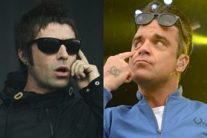Robbie Williams le pidió a sus fans que denigren a Liam Gallagher